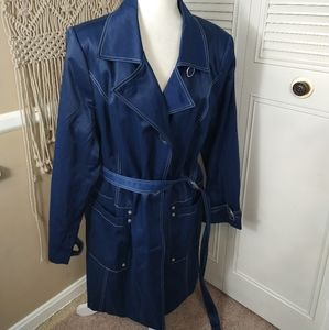 Centigrade outerwear blue jacket belted size 1X